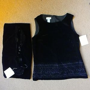 Liz Claiborne size 6/10 2 piece skirt outfit NWT